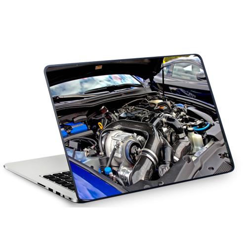 Fantaboy Car's Engine Printed Laptop Decal